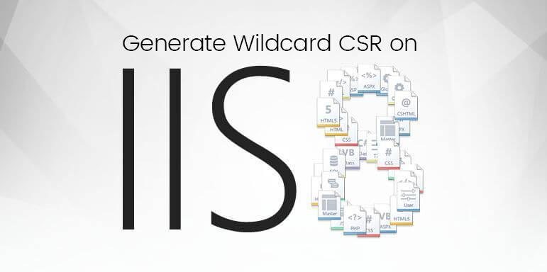 generate csr for wildcard certificate on iis 8 and iis 8.5