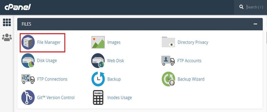 access the root directory from cPanel