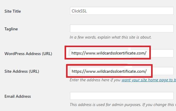 verify the site address