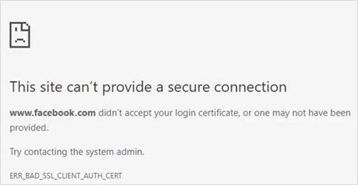 err bad ssl client authentication certificate